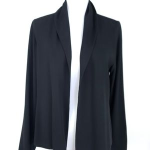 Eileen Fisher S Washable Silk Jacket Top Black